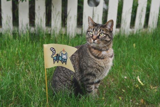 ドラクエ風、猫と草むら
