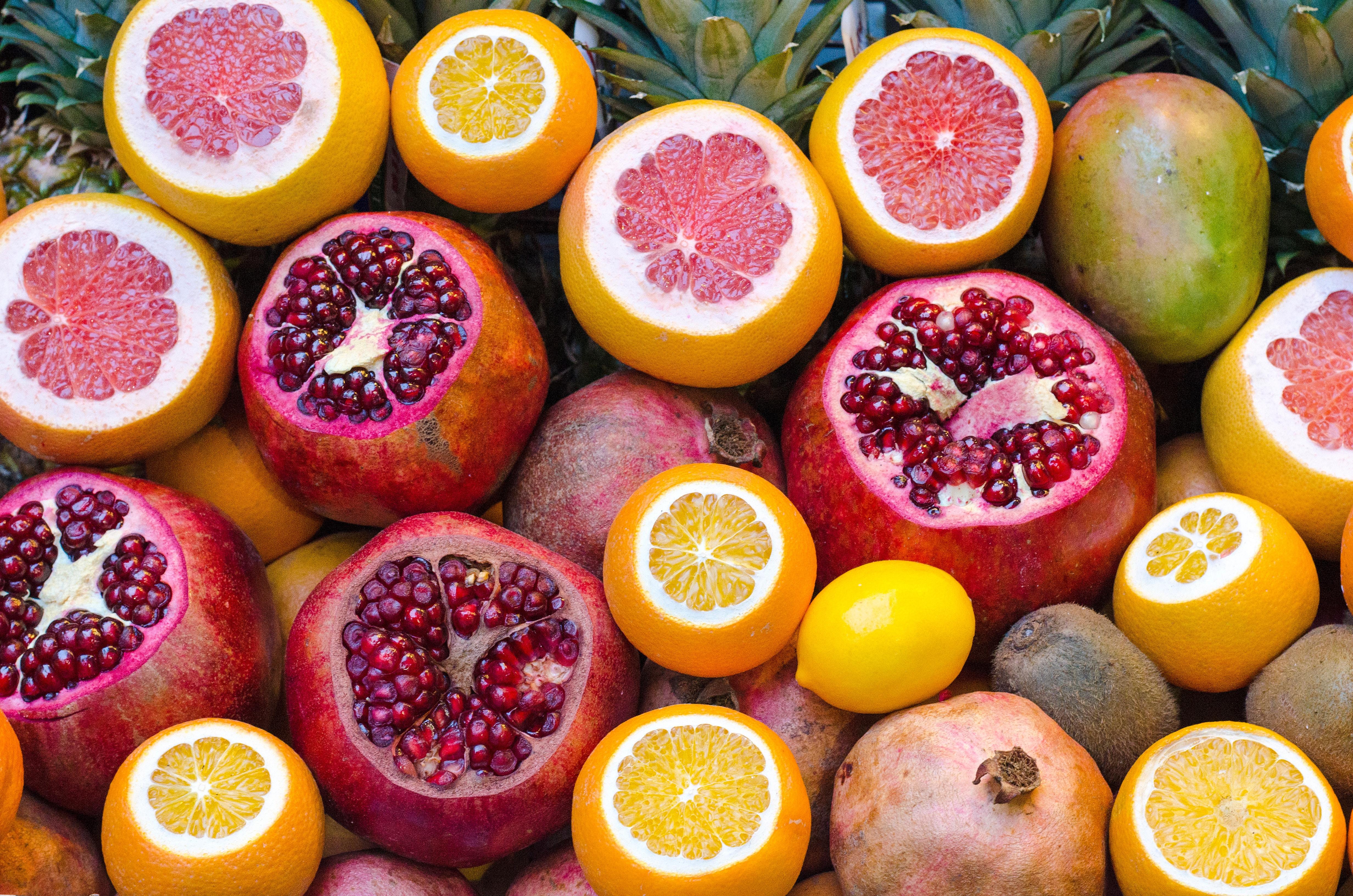 大量のグレープフルーツ