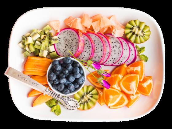 色々な種類の野菜と果物