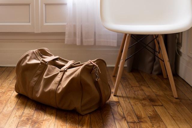 荷造りしたバッグ